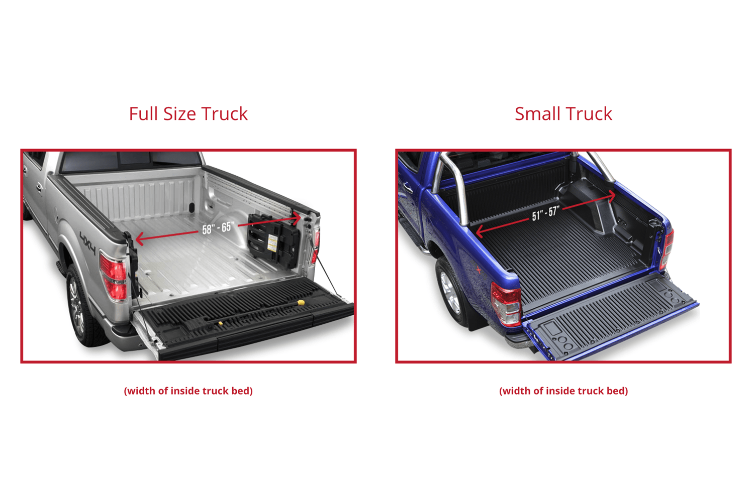 To Select The Truck Bed Liner That Works Best For Your Vehicle Measure Width Of Inside Full Size Tarp Is